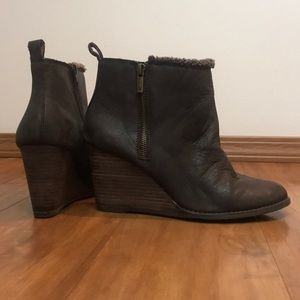 Lucky Brand Ankle High Booties
